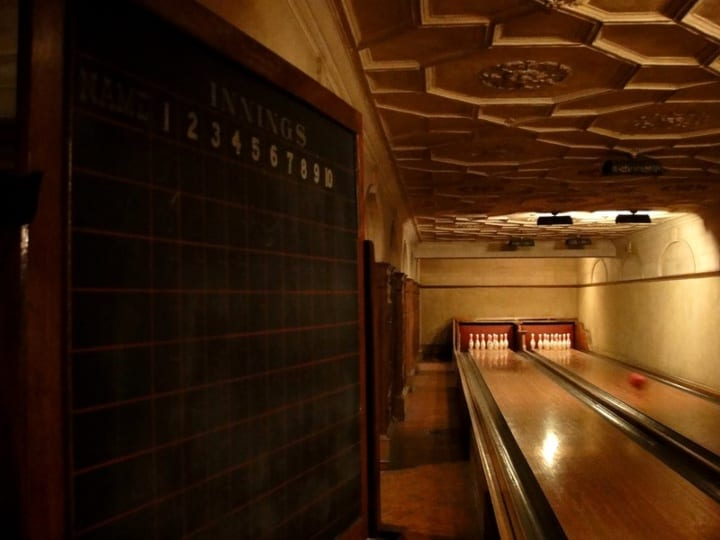 bowling alley at frick collection landmark