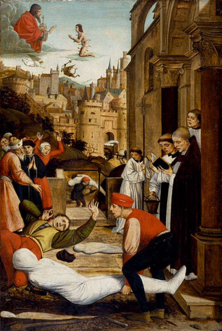 Painting of Justinian Plague