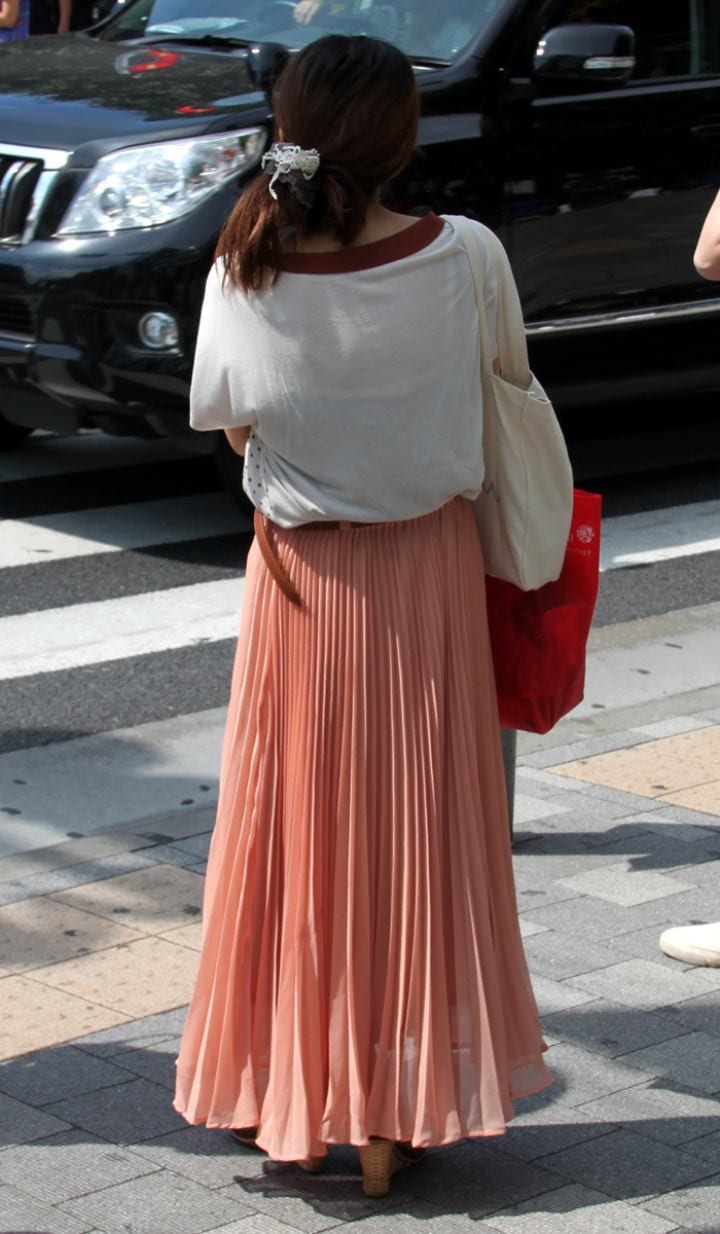 Woman in long skirt trend