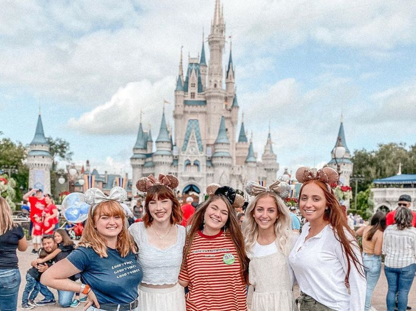 Tourists in Walt Disney World