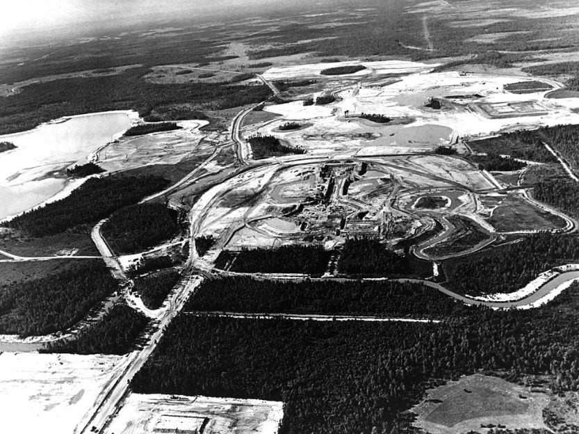 Disney World Construction aerial view