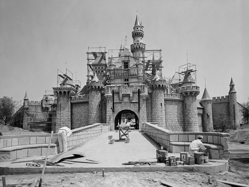 Building Disney World Magic Kingdon construction