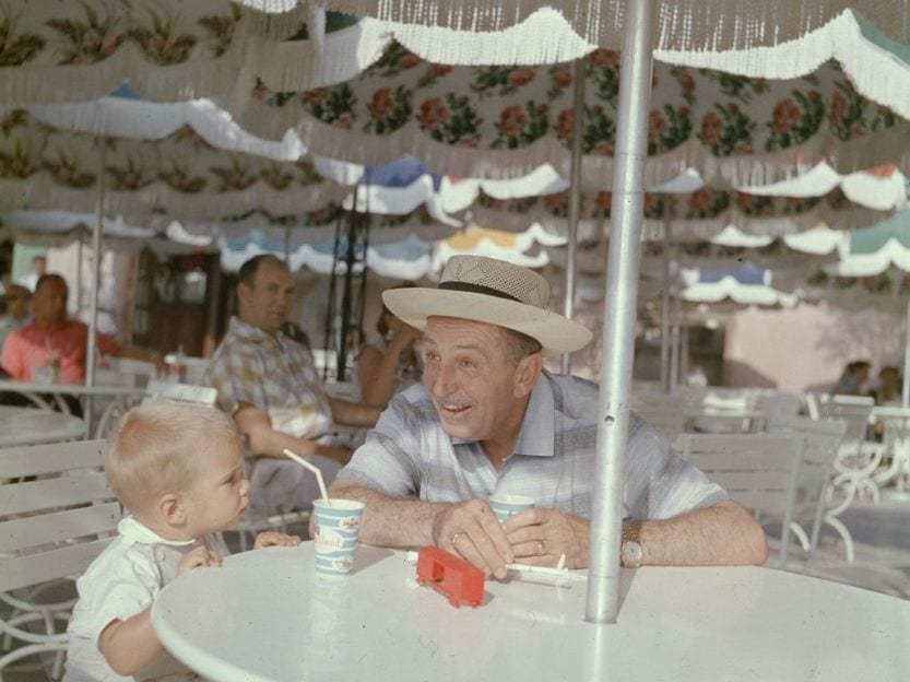 Walt Disney visiting Disney World