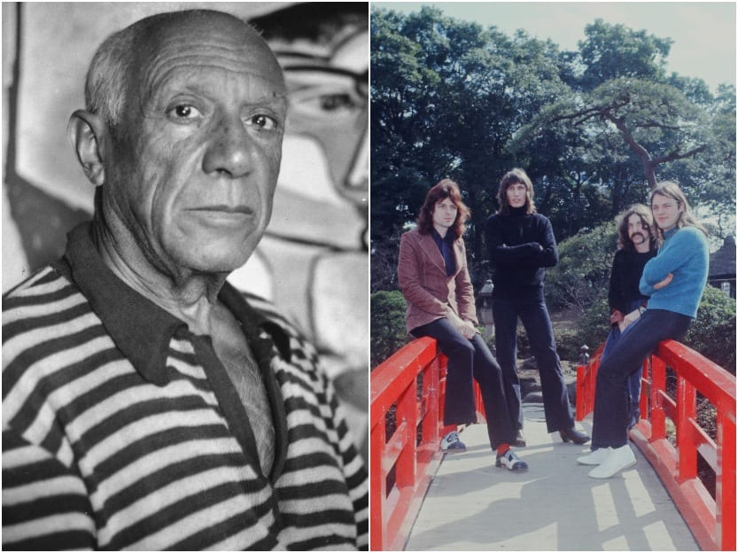 pink floyd picasso historical photos