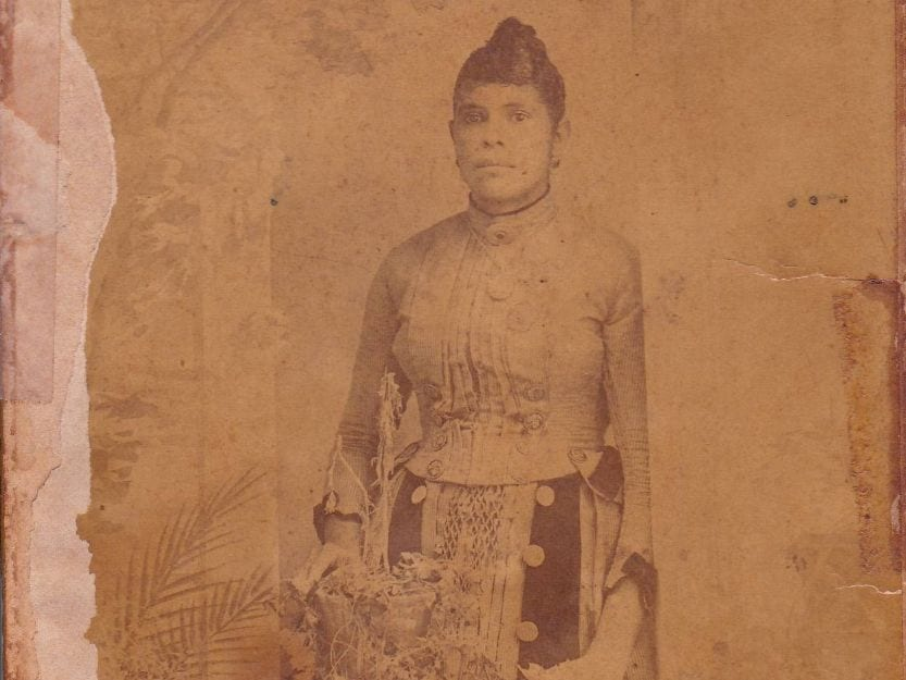 Old picture of woman hidden safe