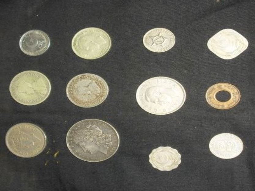 coins from several different countries