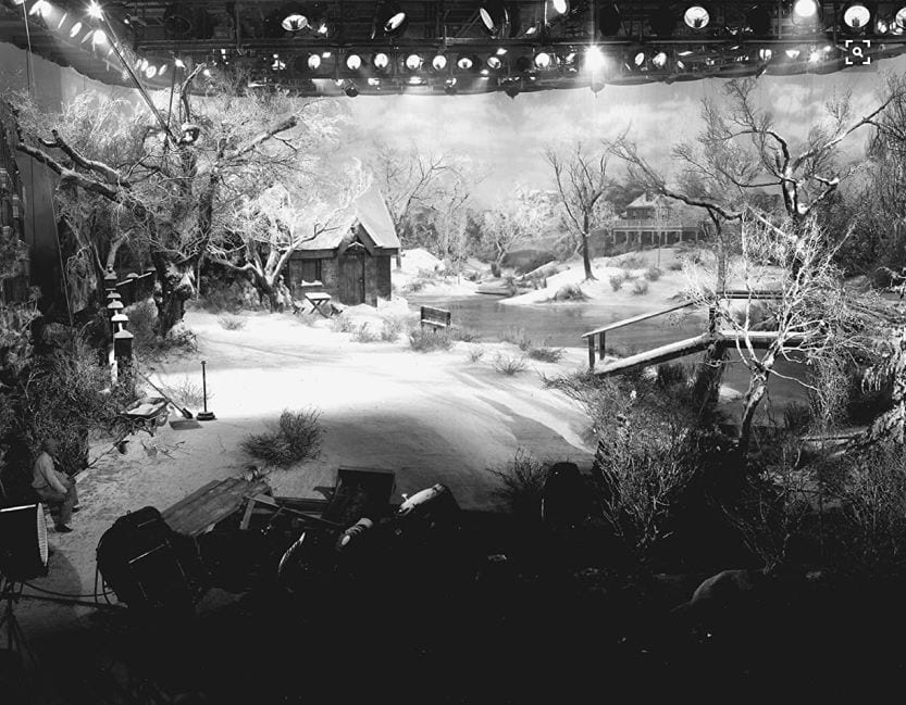 Snowy set of It's A Wonderful Life