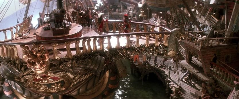 Set of pirate ship in Hook