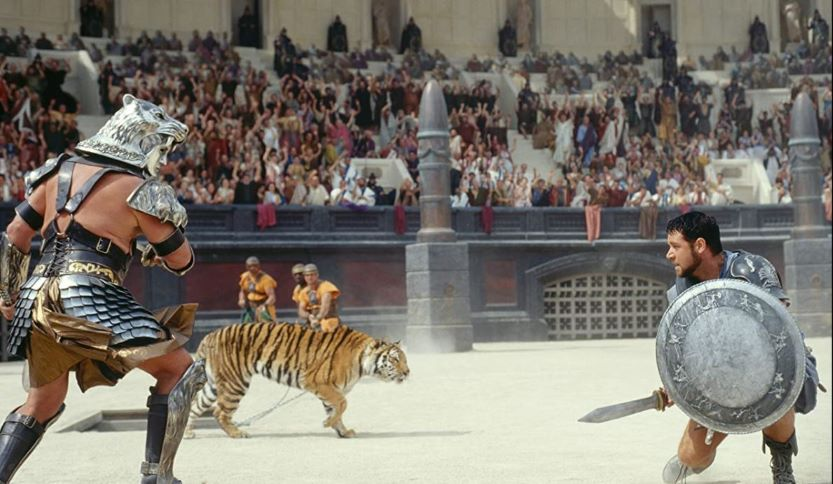 Movie still from most expensive set Gladiator