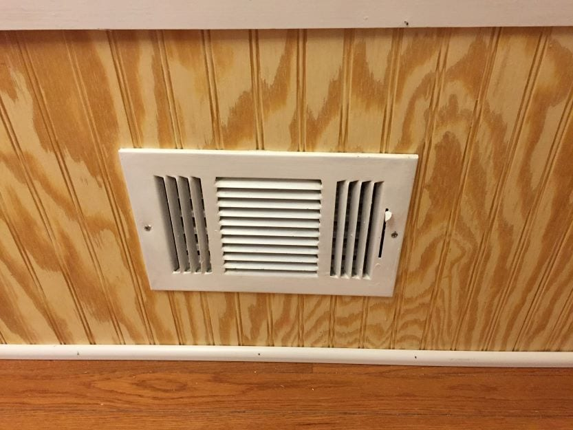 adding space for an AC vent on the breakfast nook