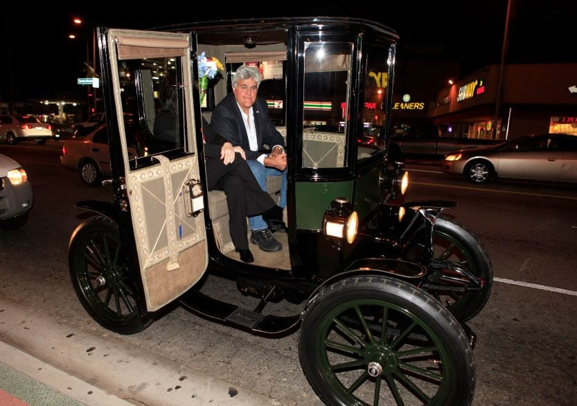 Jay Leno in 1908 car