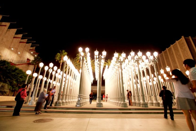 Light installation at LACMA
