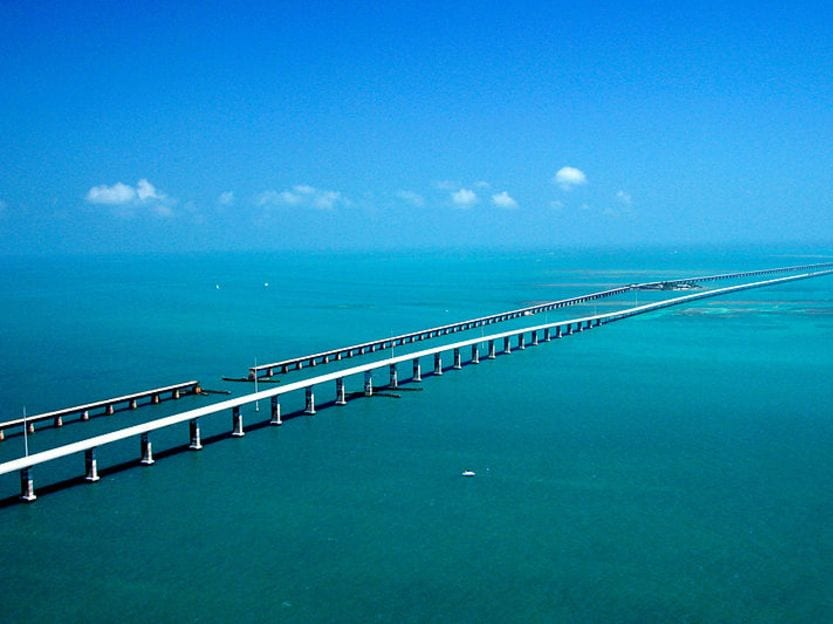 Seven Mile Bridge Florida dangerous bridges