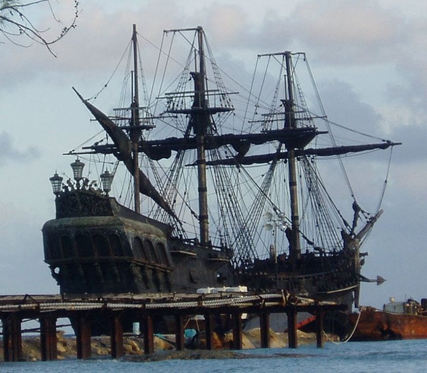 Black Pearl ship on location