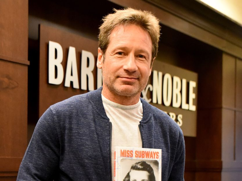 David Duchovny at his book release