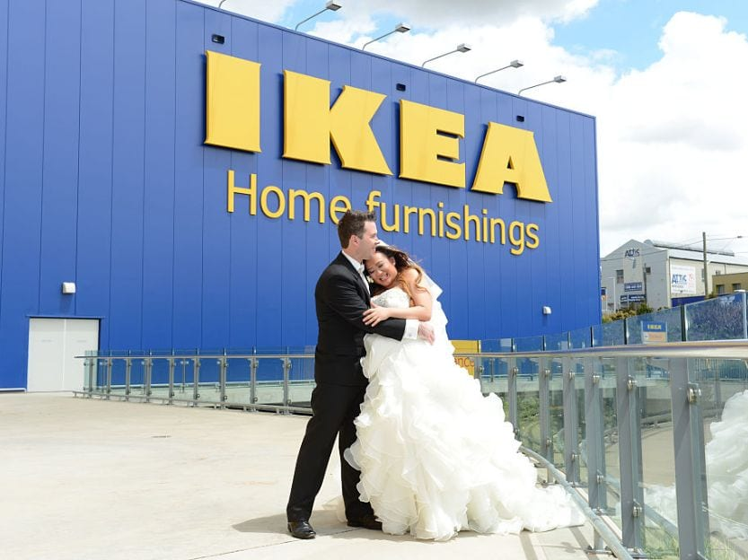 Ikea store wedding