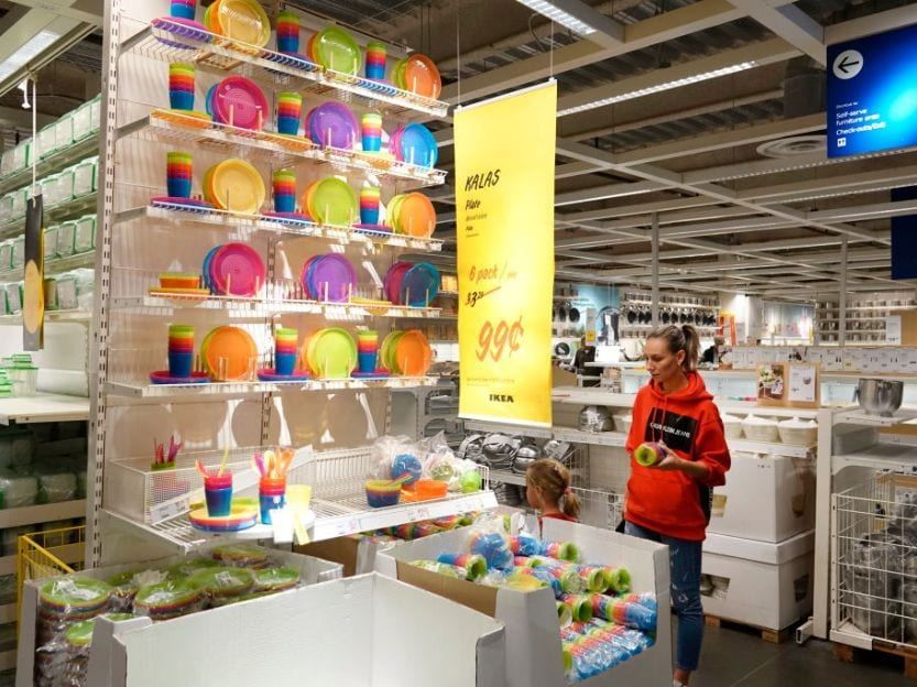 Open wallet section ikea stores