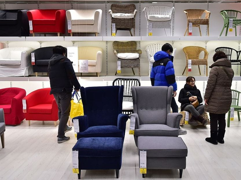 Ikea stores shoppers