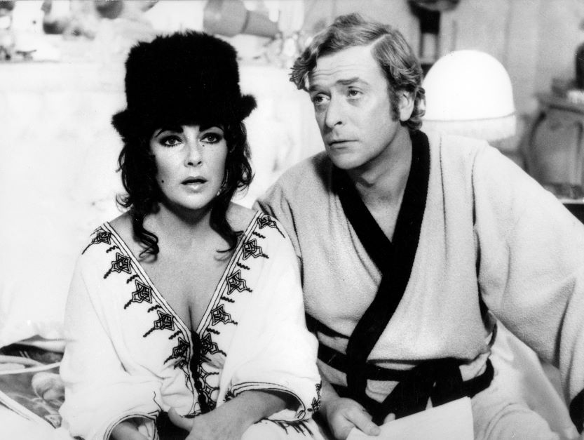 Elizabeth Taylor and Michael Caine