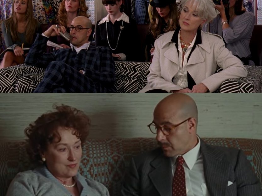 Stanley Tucci and Meryl Streep