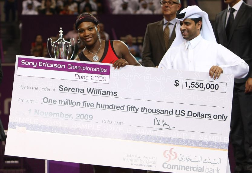 first paycheck, Serena Williams