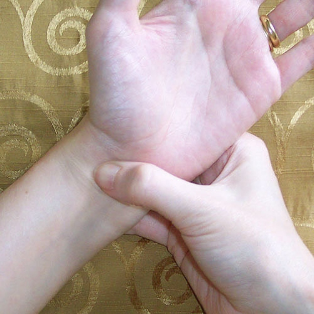 Wrists with veins